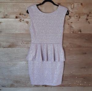 Dusty Lavender Peplum Dress